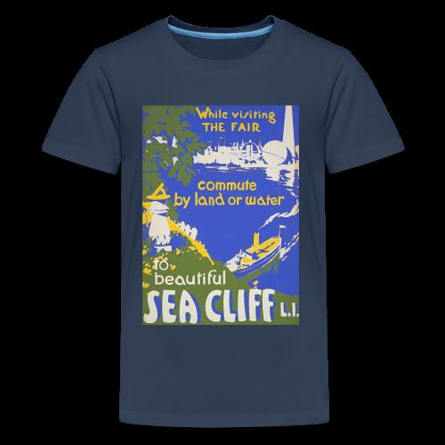 Lake travel vintage poster - Teenage Premium T-Shirt