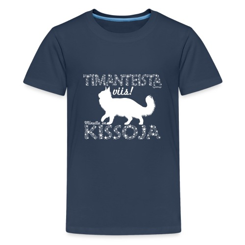 Kissoja Dimangi - Teinien premium t-paita