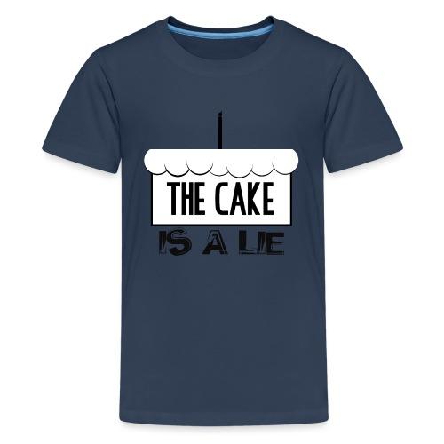Der Kuchen ist eine Lüge - Teenager Premium T-Shirt