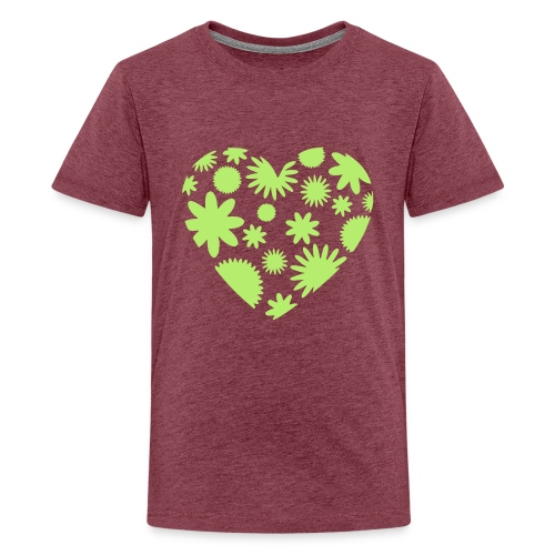 Blütenherz - Teenager Premium T-Shirt