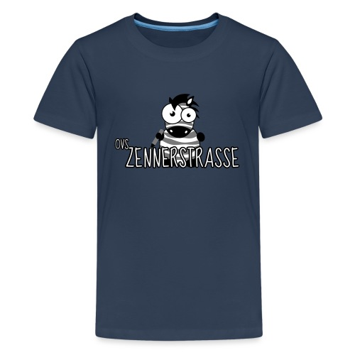 Zebra SW weiss - Teenager Premium T-Shirt