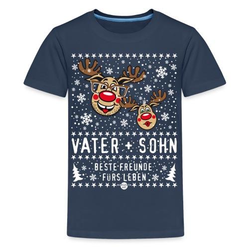 105 Hirsch Vater und Sohn beste Freunde fürs Leben - Teenager Premium T-Shirt