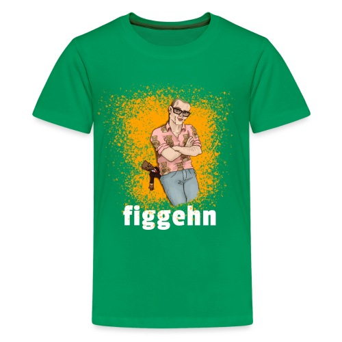 figgehn tryck - lite smuts - Premium-T-shirt tonåring