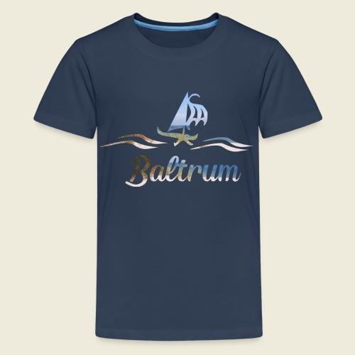 Baltrum Urlaub Nordsee Meer - Teenager Premium T-Shirt