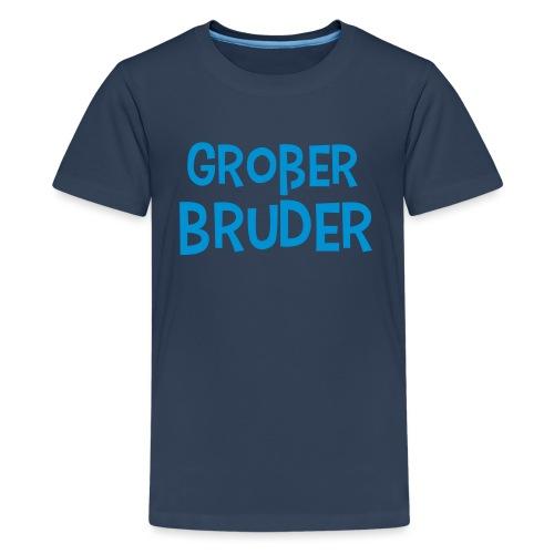Großer Bruder Schriftzug - Teenager Premium T-Shirt
