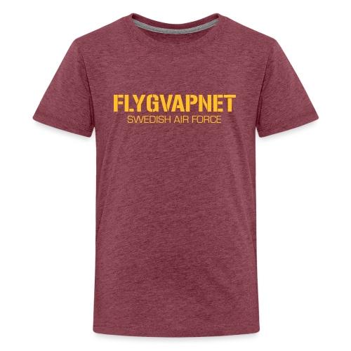 FLYGVAPNET - SWEDISH AIR FORCE - Premium-T-shirt tonåring