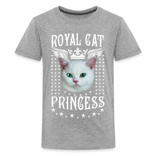 26 Royal Cat Princess white feine weiße Katze - Teenager Premium T-Shirt