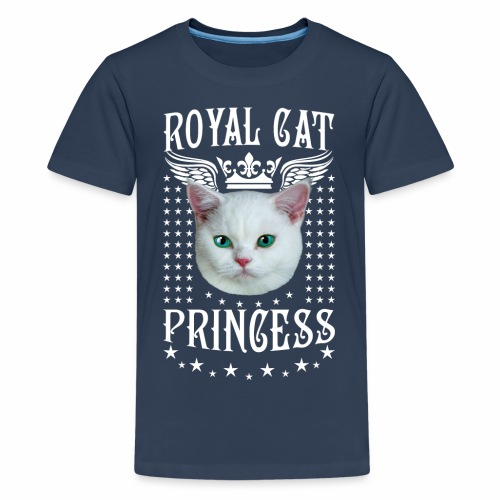 26 Royal Cat Princess white feine weiße Katze - Teenager Premium T-Shirt