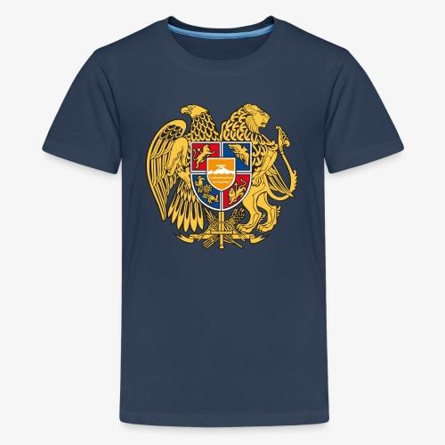 03 Armenien Wappen Armenia Армения T-Shirts - Teenager Premium T-Shirt