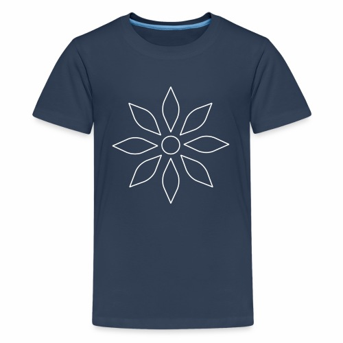 Kaleidoscope Sunflower white - Teenager Premium T-Shirt