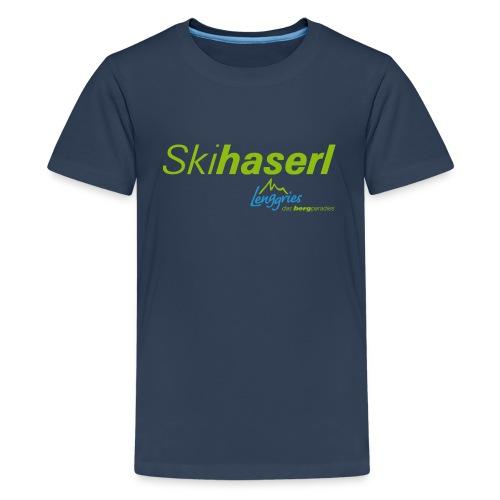 Skihaserl 2 Kinder - Teenager Premium T-Shirt