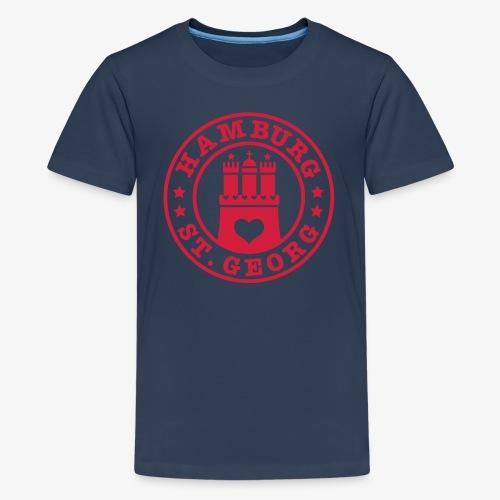 Ich liebe Hamburg Stadtteil St. Georg 1c - Teenager Premium T-Shirt