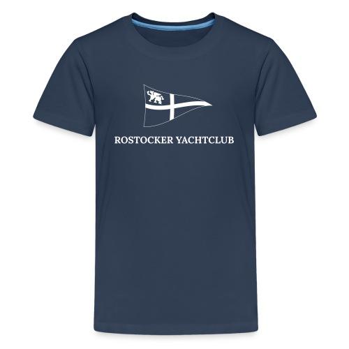 ROYC Logo einfarbig mit Schriftzug - Teenager Premium T-Shirt