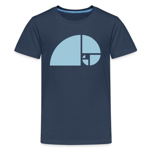 Goldener Schnitt - Fibonacci Spirale - Phi - Folge - Teenager Premium T-Shirt