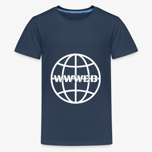 WWWeb (white) - Teenage Premium T-Shirt