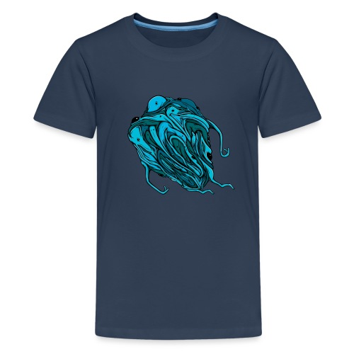 Flying blue blob - Teenage Premium T-Shirt