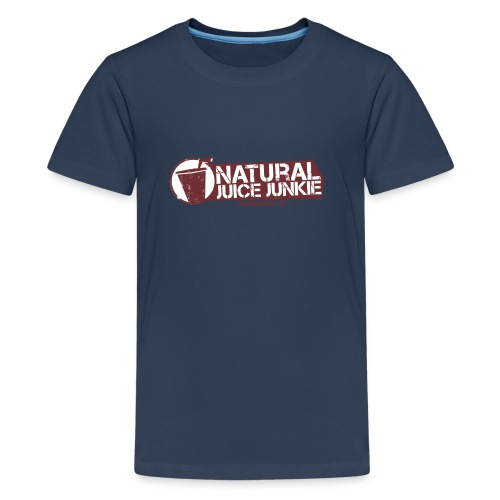 Natural Juice Junkie Logo - Teenage Premium T-Shirt