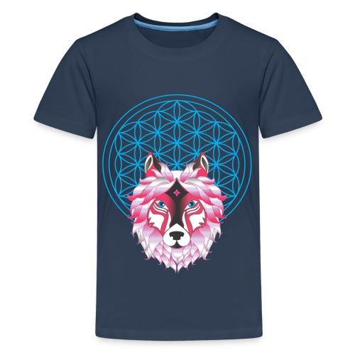 fleur de vie loup n°1 - T-shirt Premium Ado