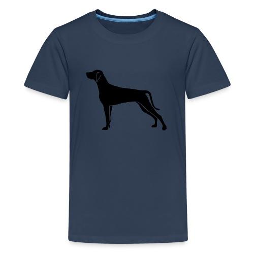Weimaraner Silhouette schwarz - Teenager Premium T-Shirt
