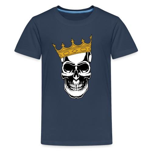 Skullking König Skull Totenkopf King - Teenager Premium T-Shirt