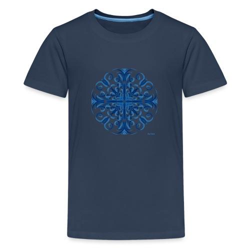 Classic Blue Modo Mandala - Camiseta premium adolescente