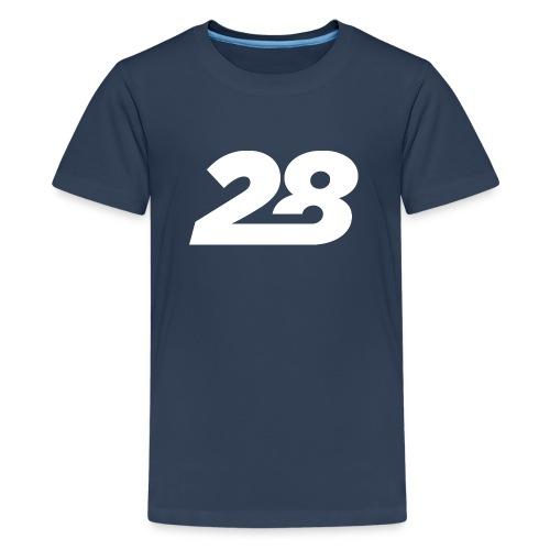 28 White - Teenage Premium T-Shirt