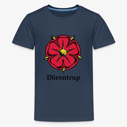 Lippische Rose mit Unterschrift Dörentrup - Teenager Premium T-Shirt