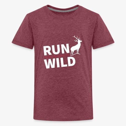RUN WILD Temple Yard & Beauty Hill - Teenager Premium T-Shirt