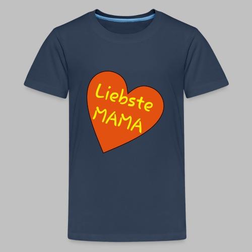 Liebste Mama - Auf Herz ♥ - Teenager Premium T-Shirt