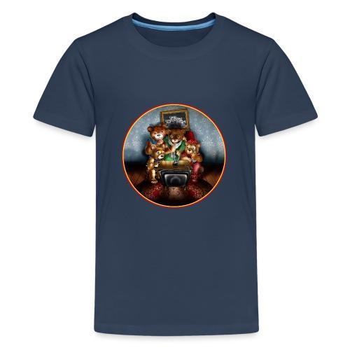 Bears watching TV - Teenage Premium T-Shirt
