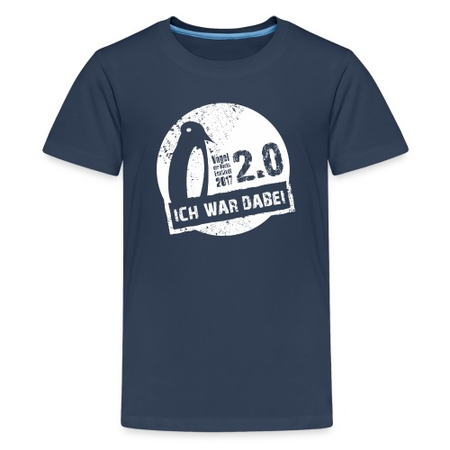 Logo 1 weiss - Teenager Premium T-Shirt