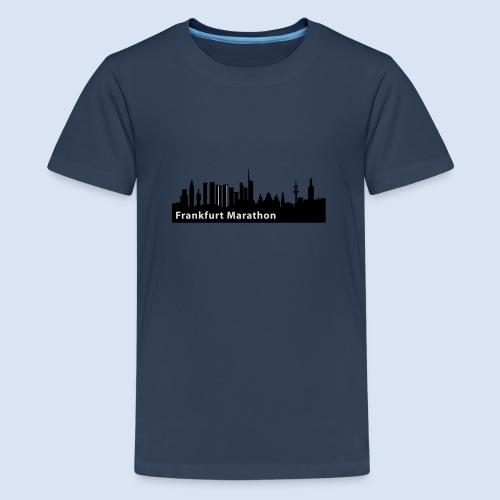 Frankfurt Marathon Skyline - Teenager Premium T-Shirt