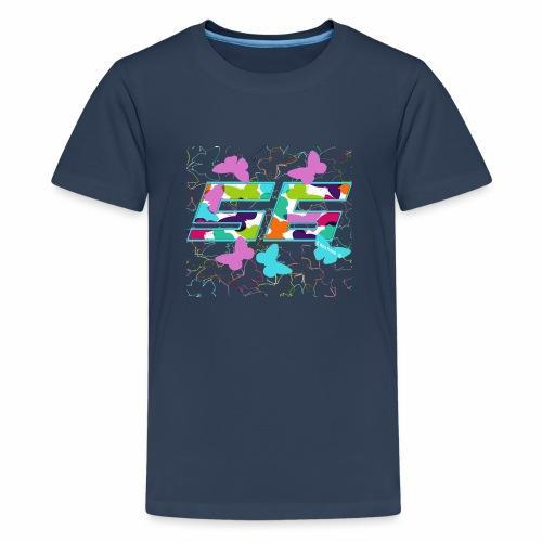 Dorsal mariposas de colores - Camiseta premium adolescente