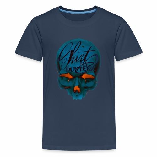 Dum Skull Orange glow - Teenager Premium T-shirt