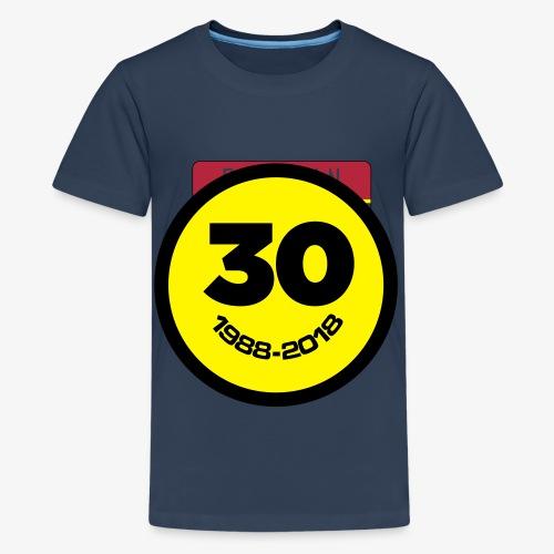 30 Jaar Belgian New Beat Smiley - Teenager Premium T-shirt