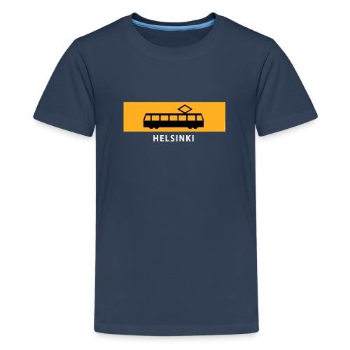 RATIKKA PYSÄKKI HELSINKI t-paidat ja tekstiilit - Teinien premium t-paita