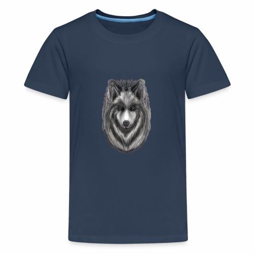 Foxy Wolf by Jon Ball - Teenage Premium T-Shirt