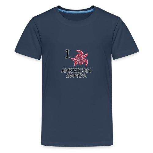 I Love American Samoa - Teenage Premium T-Shirt