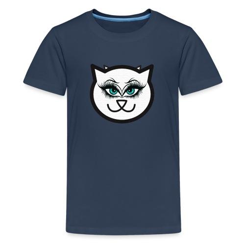Hipster Cat Girl by T-shirt chic et choc - T-shirt Premium Ado