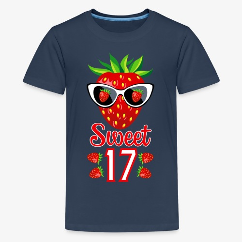 02 Sweet 17 Erdbeere Sonnenbrille Geburtstag - Teenager Premium T-Shirt
