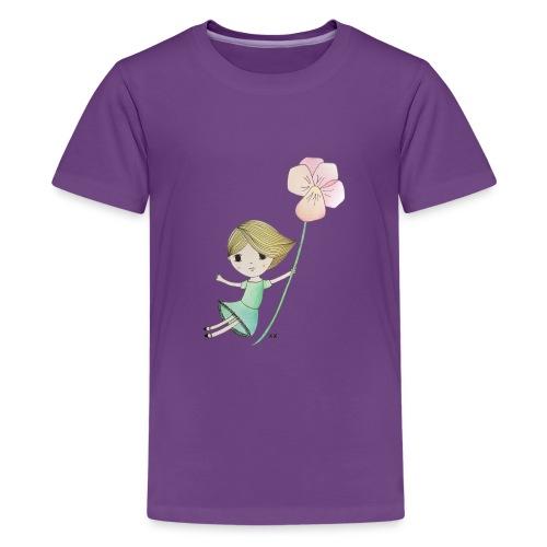 meisje met viool - Teenager Premium T-shirt