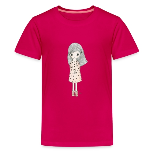 meisje met roze jurk - Teenager Premium T-shirt
