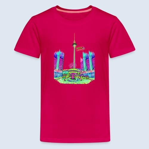 Alexanderplatz Berlin Popart ickeshop BachBilder - Teenager Premium T-Shirt