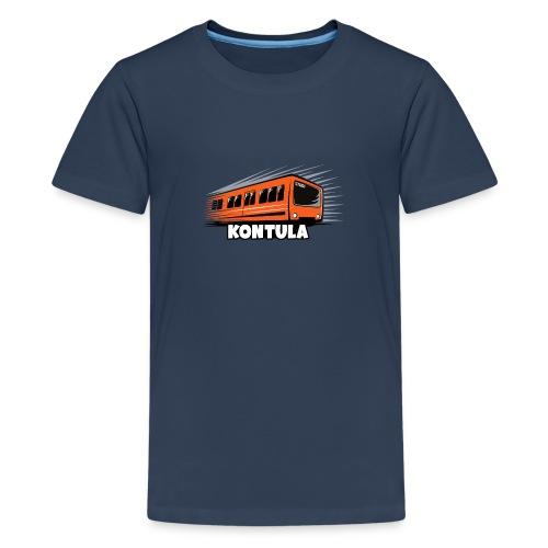 06-KONTULA HELSINKI tekstiili- ja lahjatuotteet - Teinien premium t-paita