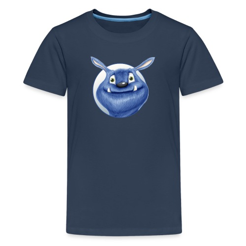 blaues Monster - Teenager Premium T-Shirt