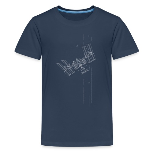 Iss inspiriertes Raumschiff - Teenager Premium T-Shirt