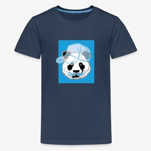 Panda - Cap - Mustache - Teenager Premium T-Shirt
