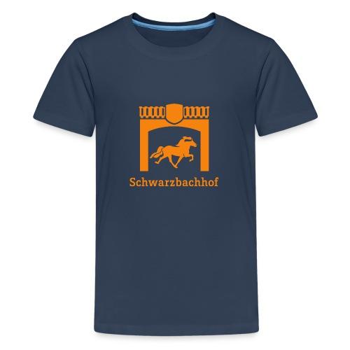 Logo Schwarzbachhof Orange - Teenager Premium T-Shirt