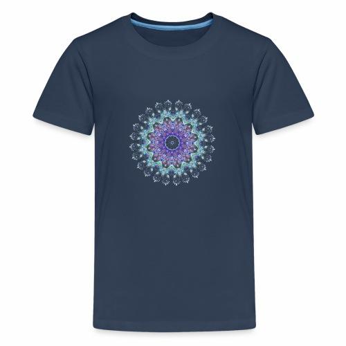 Lilla mandala pastel - Teenager premium T-shirt