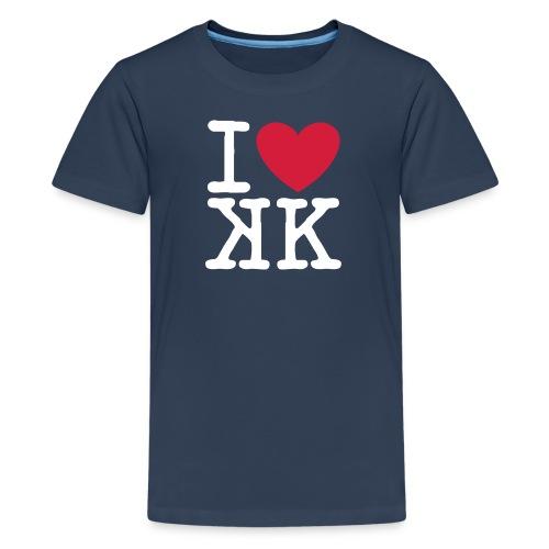I Love KKBd - T-shirt Premium Ado